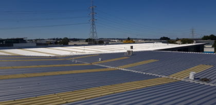 5000sqm commercial roof with gilsonite coating completed