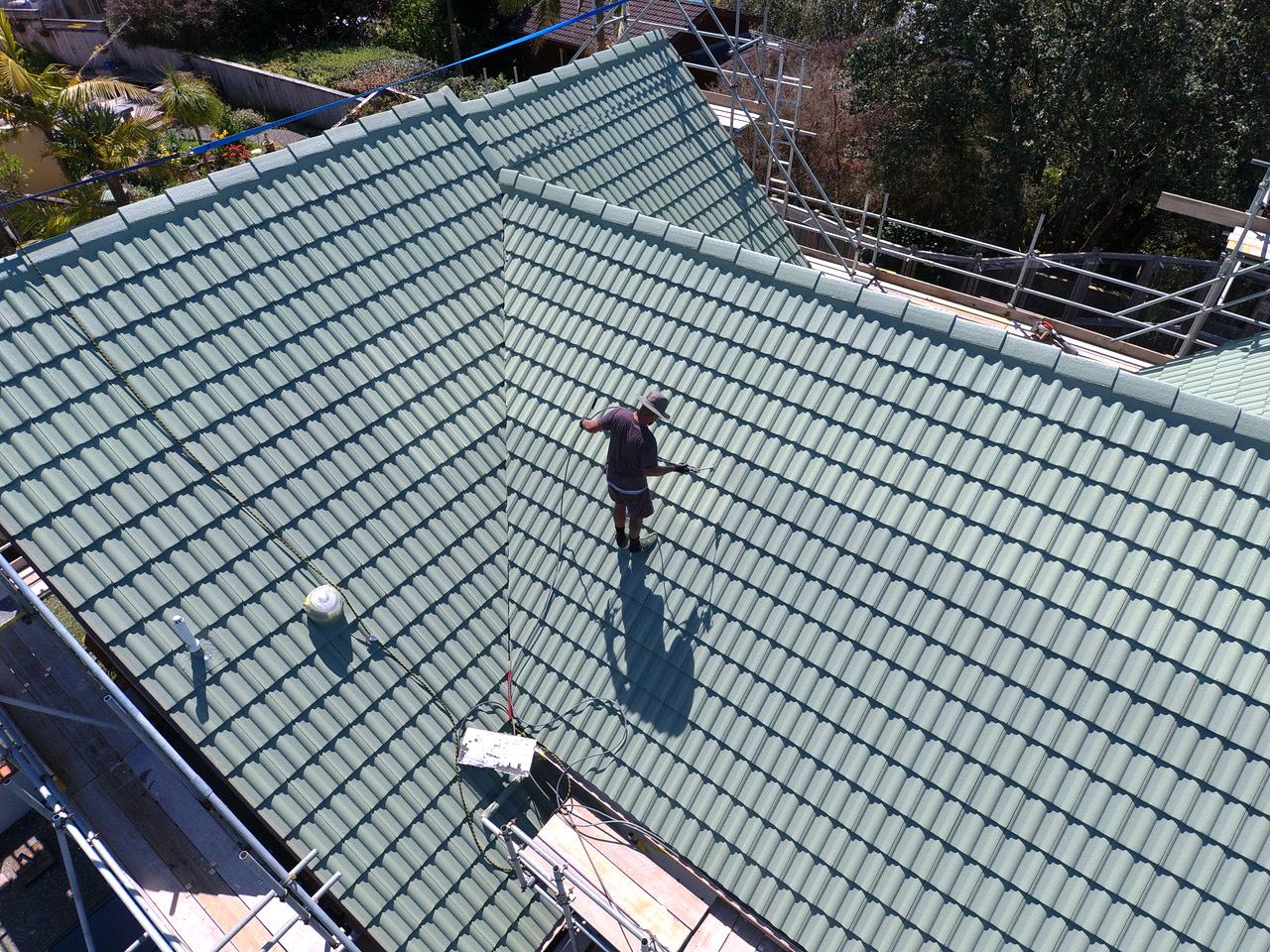 Full concrete tile roof restoration coating - Full concrete tile roof restoration