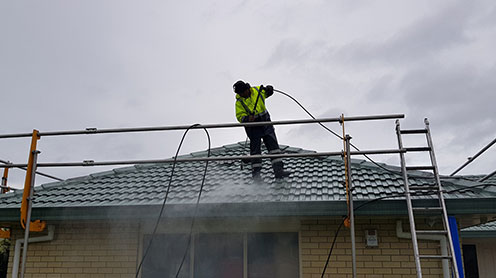 waterblasting edge protection in place safety first - Roof Cleaning / Moss Treatment