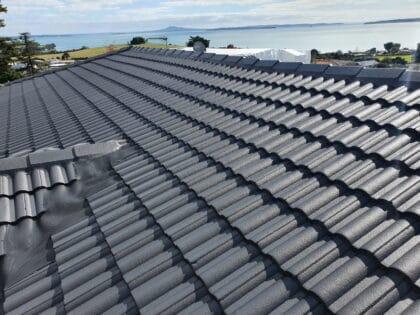Monier concrete tile roof restored